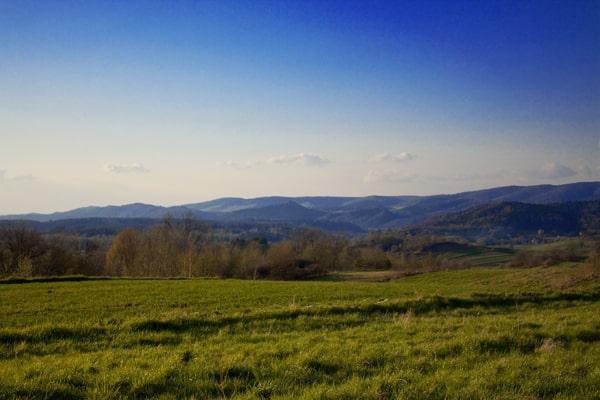 Góry Słonne widziane z leskich Źródełek