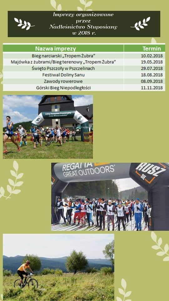 Imprezy Nadleśnictwa Stuposiany na rok 2018